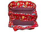 Glitter Collection Side Folding Bag, Red