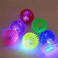 Santosh Enterprises Puppy Dog Cat Rubber Balls Toys Accessories with Sound and Flash LED Light