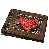 Fotoalbum 50 Blatt, 100 Seiten mit rotem Herz
