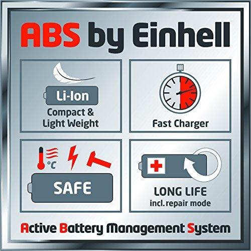 Einhell Akku Rasenmäher GE-CM 43 Li M Kit (Lithium-Ionen, 18 V, 4000 mAh, Schnittbreite 43 cm, 6-fache Schnitthöhenverstellung 25-75 mm, Fangbehältervolumen 63 l, inkl. 2 Akkus) -