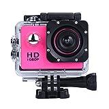 OverDose Mini 1080p Full HD-DV Sports Camcorder Car wasserdichte Tätigkeits-Kamera-Camcorder (Hot pink)