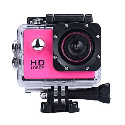 OverDose Mini 1080p Full HD-DV Sports Camcorder Car wasserdichte Tätigkeits-Kamera-Camcorder (Hot pink)