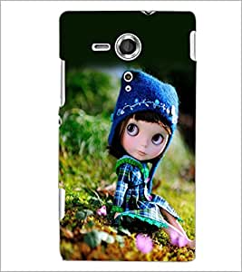 PrintDhaba Cute Doll D-1026 Back Case Cover for SONY XPERIA SP (Multi-Coloured)