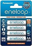 Panasonic eneloop BK-3MCCE/4BE Nickel Metal Hydride AA Batteries, Classic AA 4-Pack