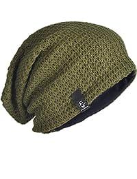 Sombrero De Punto De Hombres Beanie Los Slouchy Largo Modernas Casual  Verano Invierno Moda Extragrande Color Sólido Al Aire Libre… b1551c72c08