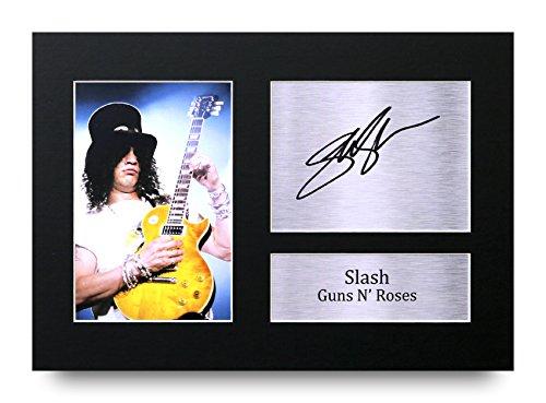 Slash Regalos A4 Dedicatoria Impresa Guns N' Roses La Foto de Impresión Imagina la Demostración