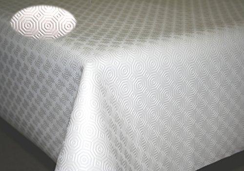 Teknigomme sous Nappe Blanc EP. 3,5 mm- Largeur 110 cm roulé sur Tube (sans Plis) (Ronde 1,10 m)