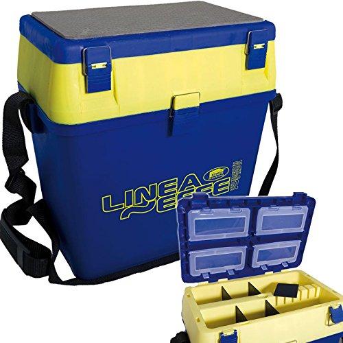 Lineaeffe - cassetta per pesca con tanti scompartimenti e possibilità di seduta / 38 x 25 x 37 cm