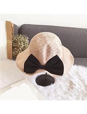 LVLIDAN Sombrero para el sol del verano Dama SolAnti-sol Fishermanhat rosa plegable