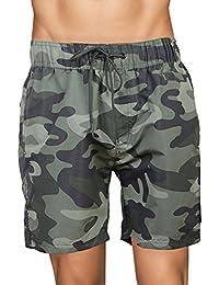 c978a7c003 Crosshatch Mens Camouflage Swim Shorts Army Camoswim Military Knee Length  Summer