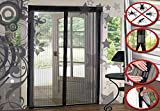 #4: Insasta Magic Mesh Hands free Screen Net Door Curtain With Magnetic Fastening Hands Free Fly Bug Insect Screen-Black