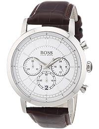 Hugo Boss 1512871 - Reloj cronógrafo de cuarzo para hombre con correa de piel, color marrón