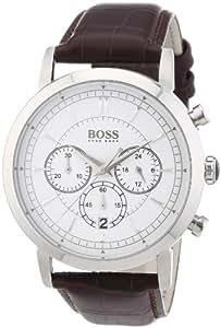 Hugo Boss Herren-Armbanduhr XL Chronograph Quarz Leder 1512871