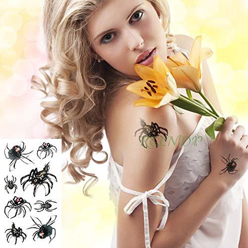 3 Stücke-wasserdicht temporäre Tattoo Aufkleber spinne Halloween Handgelenk fuß mädchen weiblich männlich temporäre Tattoo 3 Stücke-