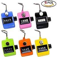 Rocita Contador Manual de Conteo de 6 dígitos Mecánicode de Mano Assorted Plastic Clicker de plástico (6 Paquetes)
