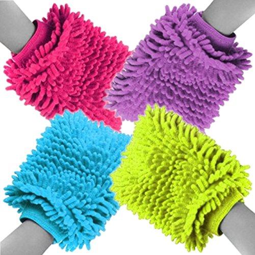Preisvergleich Produktbild Microfaser Handschuh Microfaserhandschuh Chenille Putzhandschuh Reinigung