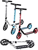 Ultimate iScoot© Air Light Weight Adult City Push Kick Scooter with Large 200MM Wheels, City Comfort Suspension, Kick Stand, Mud / Rain Guards and Folding Frame with Carry Stray - Easy to Carry Light Weight Aluminium Kickboard