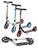 Ultimate iScoot© Air Chrome Light Weight Adult City Push Kick Scooter with Large 200MM Wheels, City Comfort Suspension, Kick Stand, Mud / Rain Guards and Folding Frame with Carry Stray - Easy to Carry Light Weight Aluminium Kickboard