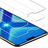 Zloer [Pack de 3] Verre Trempé Huawei Honor 8X Film Protection Ecran - [9H Dureté] [Anti Rayures] [sans Bulles, Facile à Installer] pour Protection Ecran Huawei Honor 8X