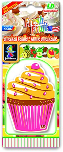 Preisvergleich Produktbild Fresh Fruit Papier Lufterfrischer Autoduft America Vanilla (Muffin)
