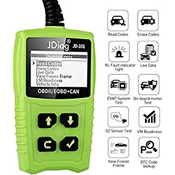 OBDKCAN OBD2 Scanner, Portable OBDII Valise Diagnostique Auto Multimarque - Lecteur de Code pour Lire et Effacer le Code d'erreur et pour tous les véhicules à partir de 2000 avec modes OBD2/EOBD/CAN