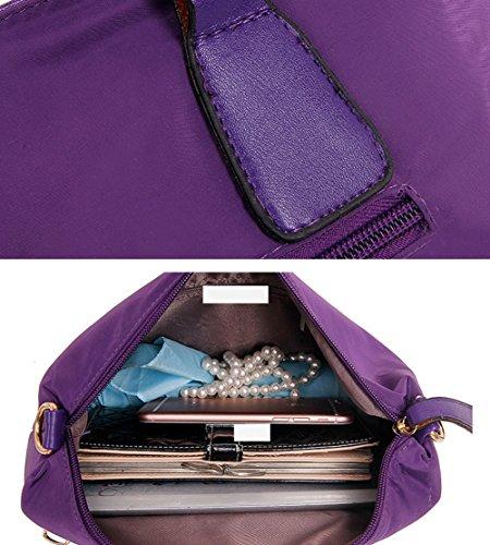 Scothen 3PCS Women's canvas Shoulder Bag/Handbag with Metal Decoration PU Leather Handbag/Shoulder Bag/Purse Frauen canvas Henkeltaschen Schultertaschen Tasche Handtasche Handtasche Lila