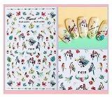 Adesivi per unghie, adesivi per unghie, cartoni animati carini, decalcomanie per nail art, imbragature, adesivi per nail art trucco per unghie 1@A3