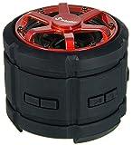 Stabo Elektronik 71500 Wasserfester Outdoor Bluetooth Lautsprecher IPX7 schwarz / rot