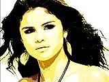 Selena (Marie) Gomez- Bild Moderne Handbemalt–Pop Art Effect (Format 45x 30cm)