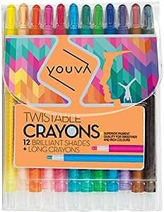 Navneet Fun Twistable Crayons 12 Shades