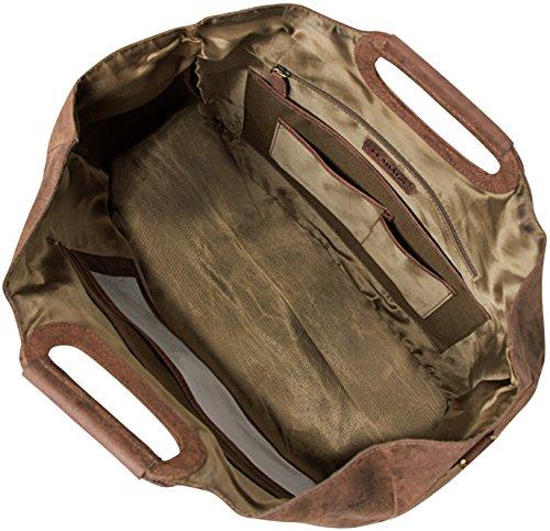 LEABAGS Bakersfield borsa vintage in vera pelle di bufalo - Noce moscata Noce moscata