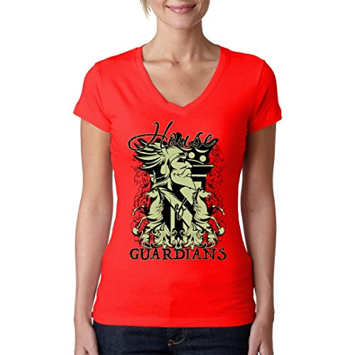 Gothic Fantasy Girlie V-Neck Shirt - House of Guardians by Im-Shirt Rot