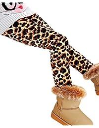 Impresión Leggings Niña Cintura Elástica Legging Cálido Pantalones Jeggings Leggins