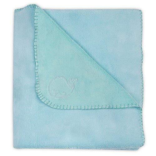 Jollein 520-522-65036 Comfy couverture polaire, 100 x 150 cm, bleu lagon/Jade