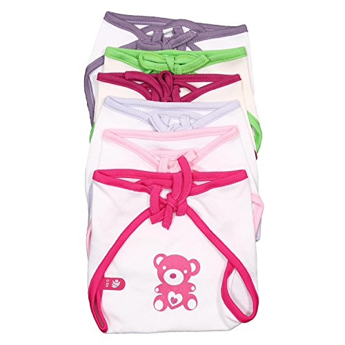 Bio Kid Eco Tie Nappies, Multi Color, 6 Pcs Pack, 0-6 Months