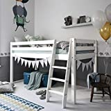 Cabin Bed Mid Sleeper Bunk WHITE (57NT- WG) Noa & Nani