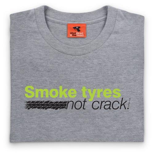 Japfest Smoke Tyres T-Shirt, Damen Grau Meliert