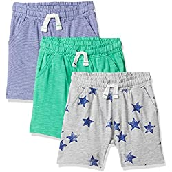 Mothercare Boy's Un 3Pk Shorts Multicolour (Brights Multi 281), 3-6 Months (Size:68CM)