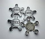 Rad Caps Zentrum Hub Caps 5Speichen Abdeckungen Abzeichen 134mm geeignet für Audi A4A5A6S6Q5Q7R8RS4RS6TT S line Vier und andere Modelle Set von vier Felgen Aluminium Nabe Zentrum Radzylinder Tap 134mm