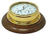 Tabic Messing mit integriertem Hygrometer Barometer und Thermometer (1/2kg), für englische Eiche mit schwerem Lacquered Messing, Segeln Schiff Yacht Boot Marine-Uhr, hergestellt in England