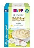 HiPP Bio-Getreide-Breie Grieß-Brei, 4er Pack (4 x 350 g)