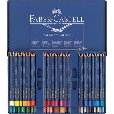 FABERCASTELL Buntstifte ART GRIP AQUARELLE, 60er Metalletui