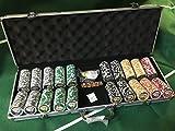 streetstore Set 500 fiches poker abs con inserto in metallo 14g texas hold'em NO CARTE