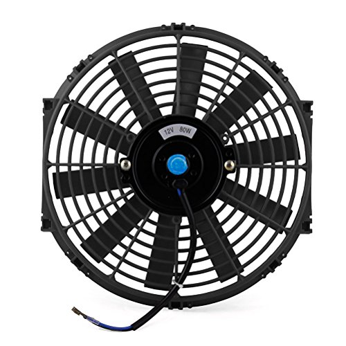 Winomo ad alte prestazioni di nero elettrico del dispositivo di raffreddamento della ventola di raffreddamento della macchina refit ted, der aspiratore abkuehlt (nero)