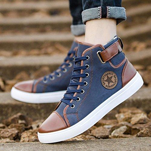 hunpta Chaussures Basses Pour Homme Bleu