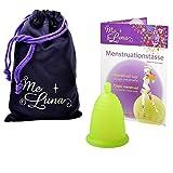 Me Luna Coupe menstruelle Classic, boule, vert, Taille M