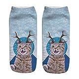 Felicove Unisex Sneaker Socken Herren Damen Mehrfarbige Bunte Gemusterte Herrensocken Tennissocken aus Baumwolle Thermal Lässige Sportsocken