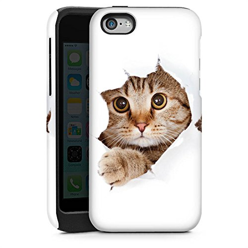Apple iPhone 4 Housse Étui Silicone Coque Protection Chat Chat Kitten Cas Tough brillant