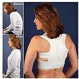 ECYC Einstellbare Orthopädische Korsett Zurück Schulter Körperhaltung Korrektor Frauen Körperhaltung Magnetische Elastische Gürtel, Weiß, XXL