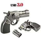 Microware USB 3.0 16GB Gun Pistol Shaped Flash Drive Pen Drive USB Drive Memory Stick USB Flash